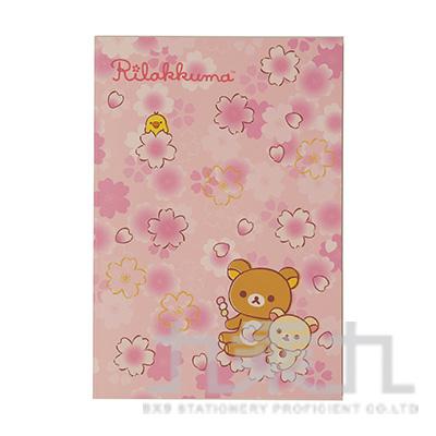 拉拉熊32K方格可撕筆記本(櫻花) RK11081C