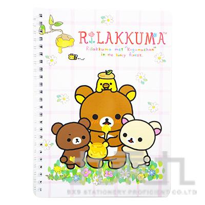 拉拉熊25開線圈筆記本A版  RK06048A