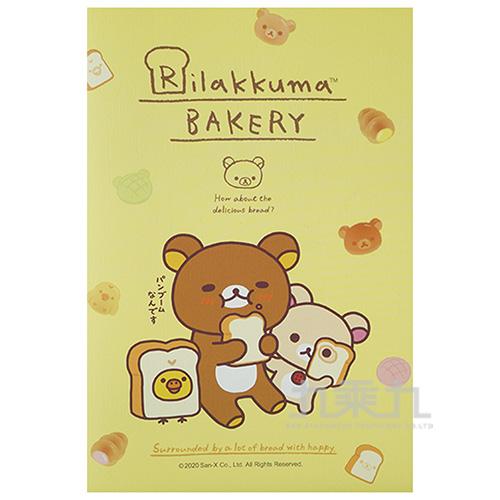 拉拉熊32K壓紋筆記本-麵包版 RK16342A