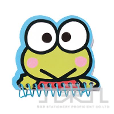 大眼蛙臉型線圈小筆記本 187067