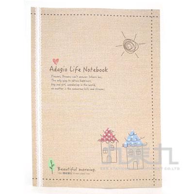 16K平裝筆記緩慢生活-米 AF1078