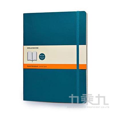 Moleskine 經典海藍色軟皮筆記本-XL型橫線 ML323753