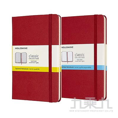 (可燙金) MOLESKINE 經典硬殼筆記本(M型) 紅 ML626659