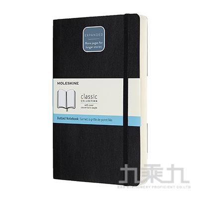 (可燙金) MOLESKINE 經典加量型硬殼筆記本-L型方格黑 ML628011