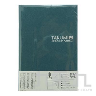 TAKUMI 匠和紙筆記本-A5空白(銀標)/千歲綠 NTSA5-P4S