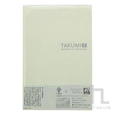 TAKUMI 匠和紙筆記本-A5格線(銀標)/白練 NTSA5-S9S