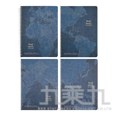 A5/25K牛皮線圈筆記/80張(方格) NB-18110-28