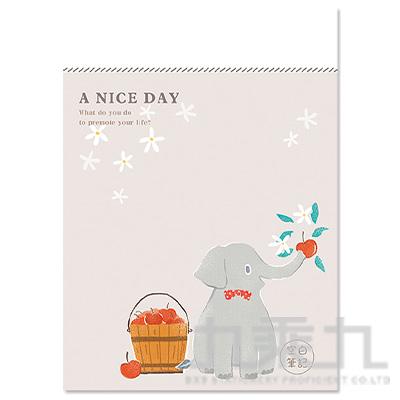 16K定頁筆記本(空白)-蘋果大象 SS-10025-A279