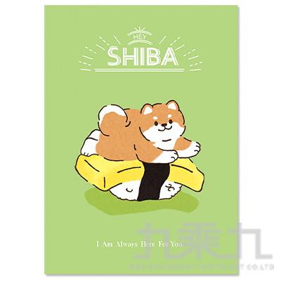 16K定頁筆記本(橫線)-壽司柴犬 SS-10025-A296
