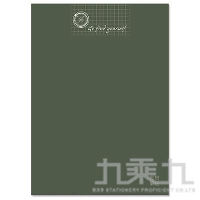 16K定頁筆記本(方格)-尋找墨綠 SS-10025-A300