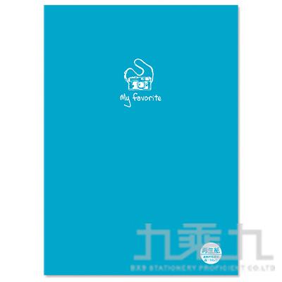 16K定頁筆記本(再生紙/橫線)-藍 SS-10025-A301