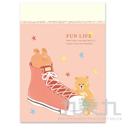16K空白定頁筆記本(鞋子熊)