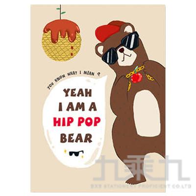 16K橫線定頁筆記本(嘻哈熊)