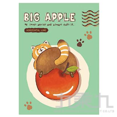 16K橫線定頁筆記本(貪吃浣熊)