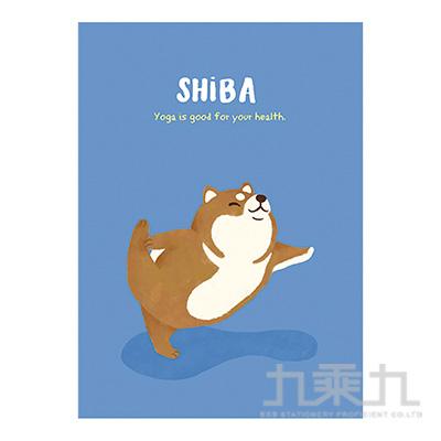 16K定頁筆記本(橫線)-瑜珈狗 SS-10025-A336