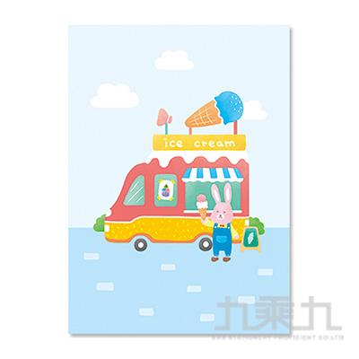 16K定頁筆記本(橫線)-冰淇淋兔 SS-10025-A338