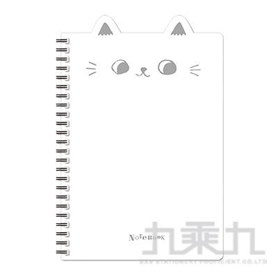 O-cat 25K貓耳PP線圈本(白)