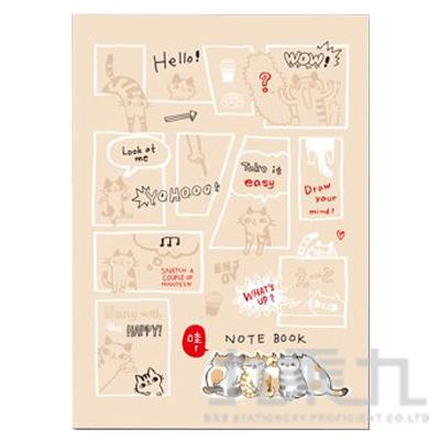 O-Cat 16K定頁筆記-漫畫迷 JN-16143D