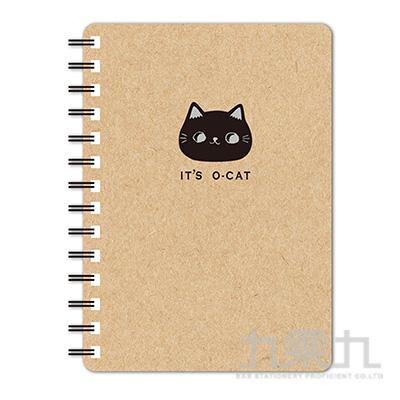 O-Cat斬型貓25K線圈筆記本-牛