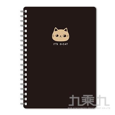 O-Cat斬型貓25K線圈筆記本-黑