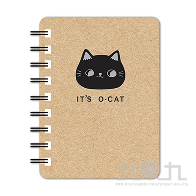 O-Cat斬型貓50K線圈筆記本-牛