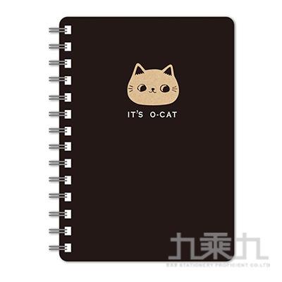 O-Cat斬型貓50K線圈筆記本-黑