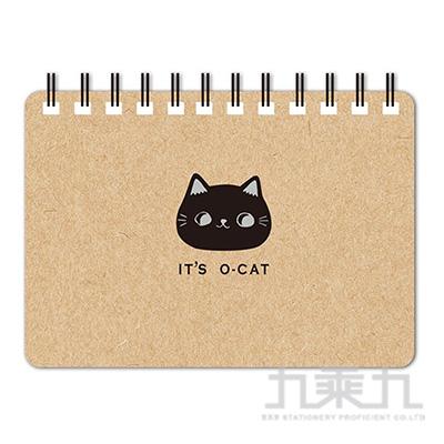 O-Cat斬型貓64K空白筆記本-牛