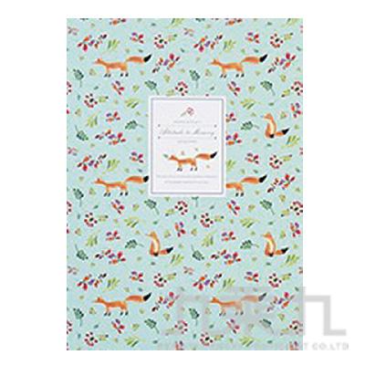 花漾森林16K固頁筆記本(空白)狐狸 LW-A1351B