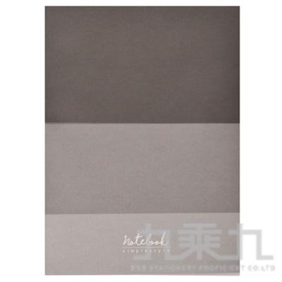 簡約風16K方格固頁筆記本-黑色 DK-6238B