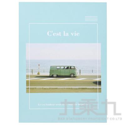 玩美攝影16K橫線固頁筆記本(綠) LW-A2070D