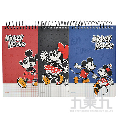 迪士尼36K單線圈上翻方格厚版筆記本 LW-A2153
