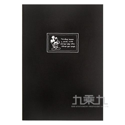 迪士尼25K厚版橫線固頁筆記本-米奇(鋼筆適用) LW-A346