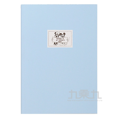 迪士尼25K厚版橫線固頁筆記本-米奇米妮(鋼筆適用)
