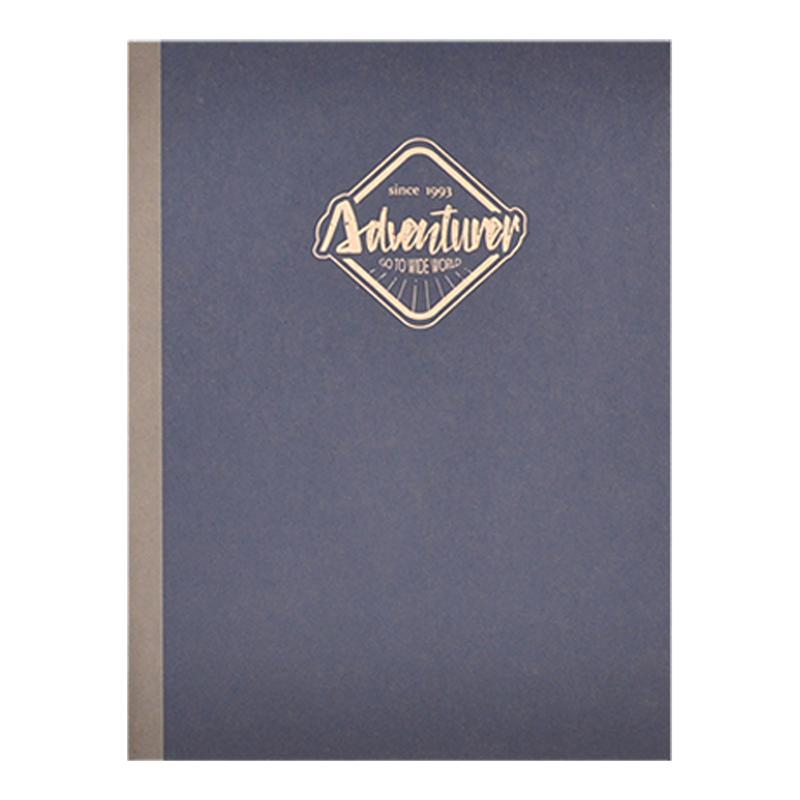 大地色25K方格固頁筆記本-深藍 DK-7087B