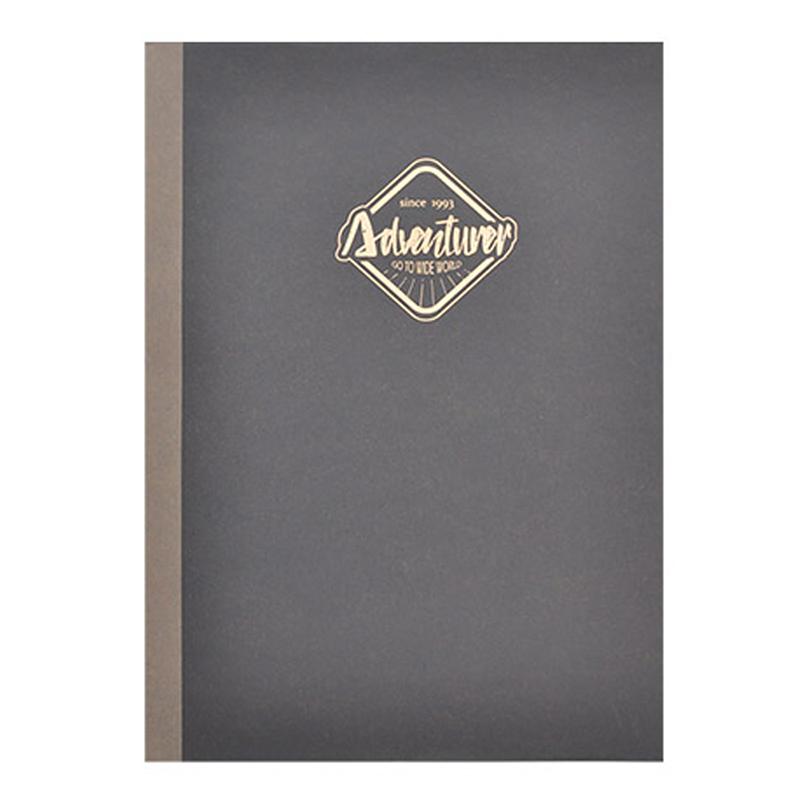 大地色16K方格固頁筆記本-黑色 DK-7090A