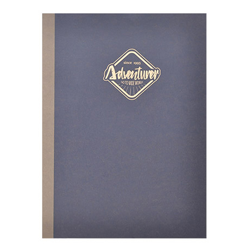 大地色16K方格固頁筆記本-深藍 DK-7090B
