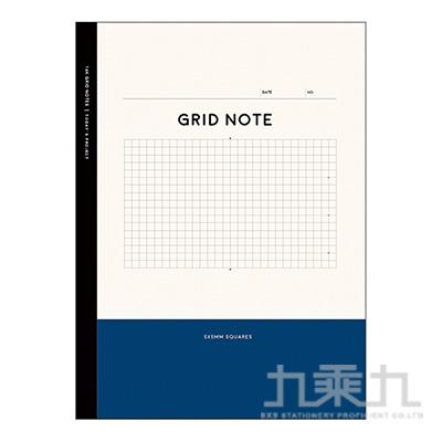 16k主題活用方格定頁筆記(紺藍)-Choice CN-16166C