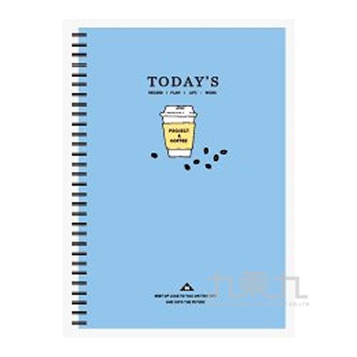 18K雙線圈方格筆記(藍咖啡)-簡單生活 CM-1882C