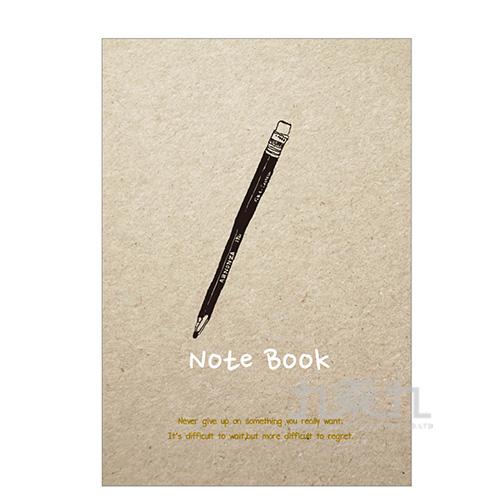 16K灰紙固頁橫線筆記-清新風D L02-111
