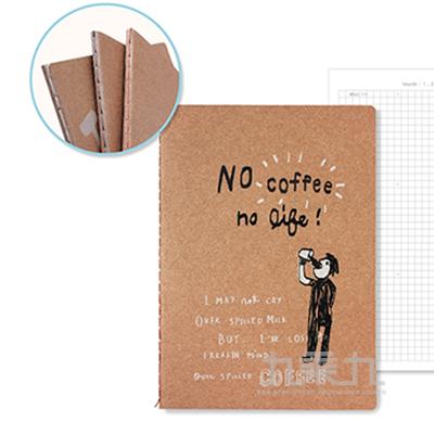 牛皮定頁筆記-咖啡人生(週計劃) BN-2583