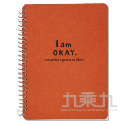 I am okay-50K側翻筆記-橘 BN-5293A