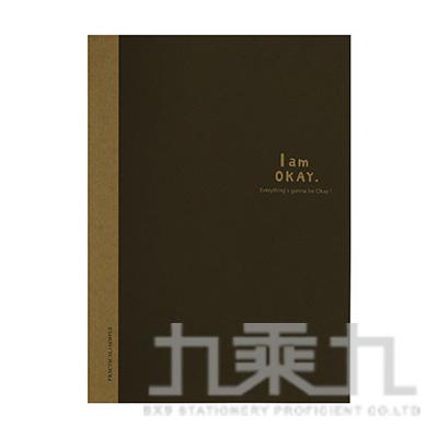 I am okay 16K橫罫加厚筆記-黑 BN-16106D