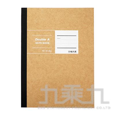 DA布膠系列/A5方格/黃牛皮 DANB18014