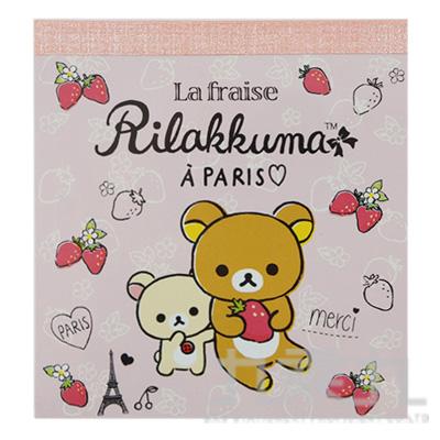 拉拉熊 48K方形便條紙(草莓版)