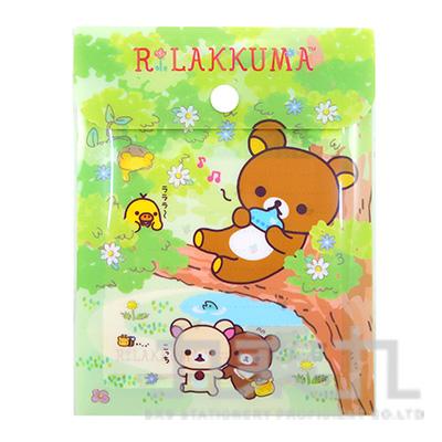 拉拉熊附扣便條包-茶小熊綠版 RK11588A
