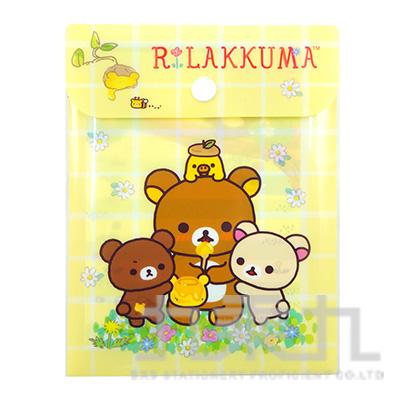 拉拉熊附扣便條包-茶小熊黃版 RK11588B