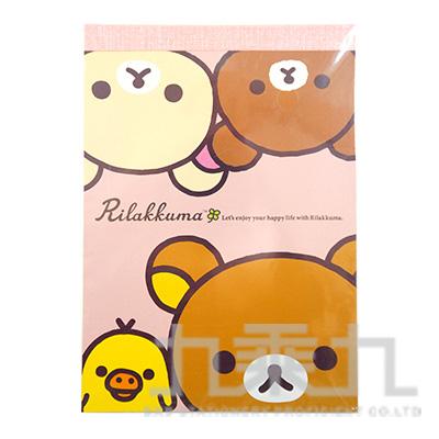 拉拉熊方型便條紙-茶小熊粉版 RK11721A