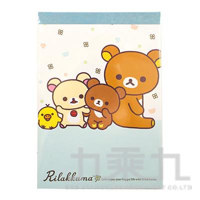 拉拉熊方型便條紙-茶小熊藍版 RK11721B