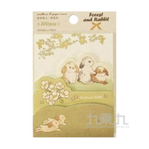 便簽紙(亞歐童話)森林與兔子 72587