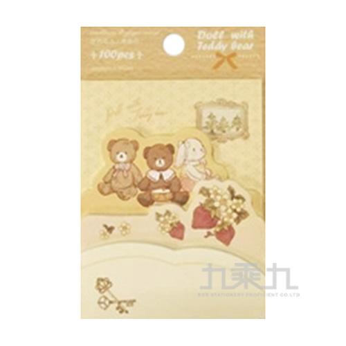 便簽紙(亞歐童話)娃娃和小熊 72590